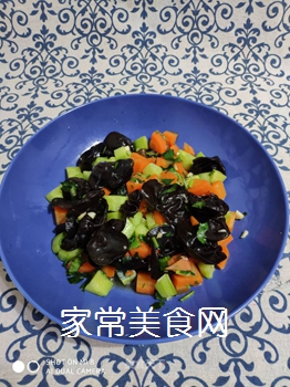 黄瓜木耳拌胡萝卜的做法