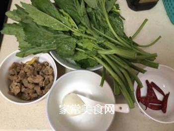 油渣炒菜苔的家常做法