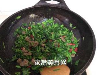 油渣炒菜苔的做法步骤:8