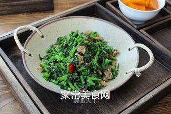 油渣炒菜苔的做法