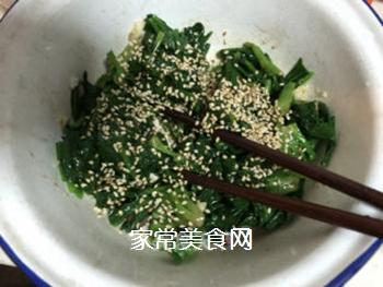 拌菠菜的做法步骤:8