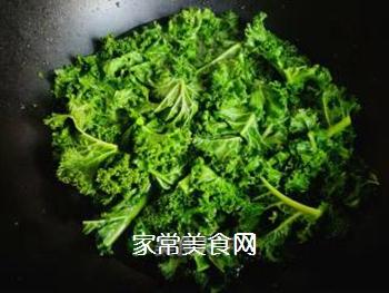 #团圆饭#焯炒橄榄菜的做法步骤:3