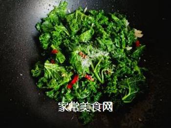 #团圆饭#焯炒橄榄菜的做法步骤:6