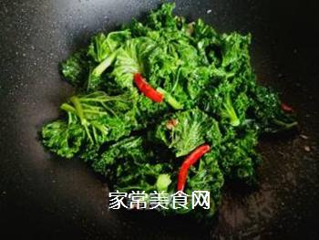 #团圆饭#焯炒橄榄菜的做法步骤:7