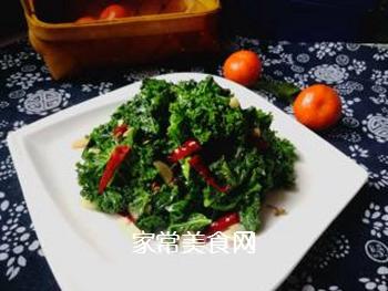 #团圆饭#焯炒橄榄菜的做法步骤:8