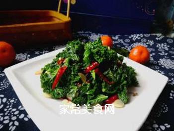 #团圆饭#焯炒橄榄菜的做法步骤:9