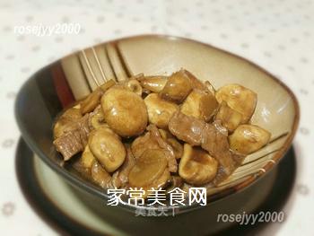 蚝油蘑菇牛肉的做法