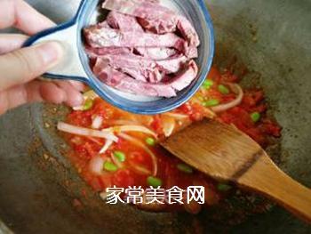 茄汁牛肉炒蛋面的做法步骤:10