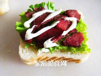 三明治的做法步骤:6