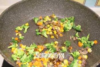 时蔬牛肉炒饭的做法步骤:3