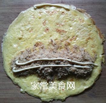 富贵黄金肉松卷的做法步骤:8