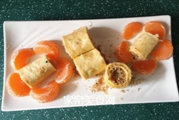 富贵黄金肉松卷的做法步骤:11