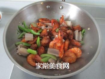 #信任之美#干锅鸡翅虾的做法步骤:9