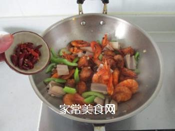 #信任之美#干锅鸡翅虾的做法步骤:10