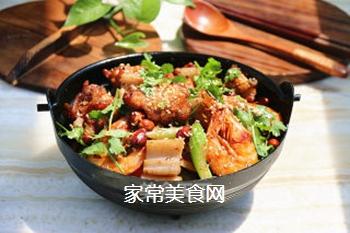 #信任之美#干锅鸡翅虾的做法步骤:13