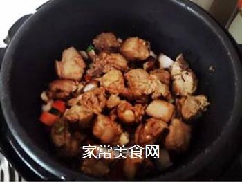 香菇排骨蒸饭的做法步骤:4