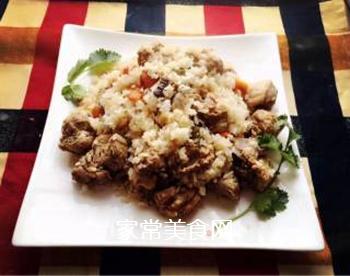香菇排骨蒸饭的做法步骤:5