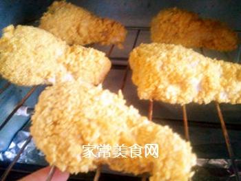 无油脆皮鸡腿/自制健康版KFC炸鸡的做法步骤:7