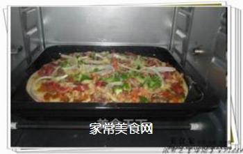 浓郁芝香海陆大战PIZZA的做法步骤:5