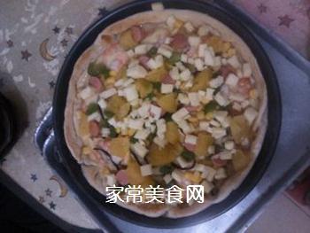 夏威夷大虾披萨的做法步骤:11