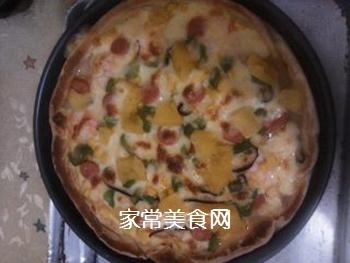 夏威夷大虾披萨的做法步骤:12