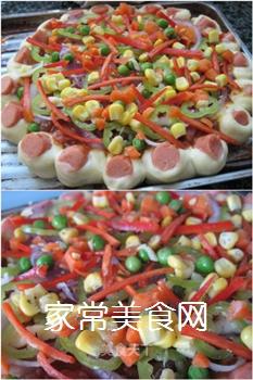 新奥尔良鸡肉披萨的做法步骤:9