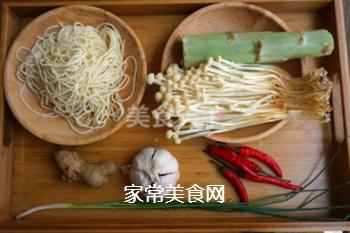 金针菇凉面卷的做法步骤:1