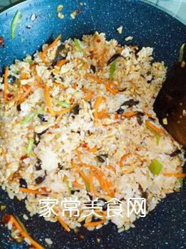 鱼香肉丝炒饭的做法步骤:6