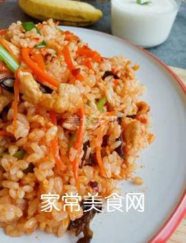 鱼香肉丝炒饭的做法步骤:8