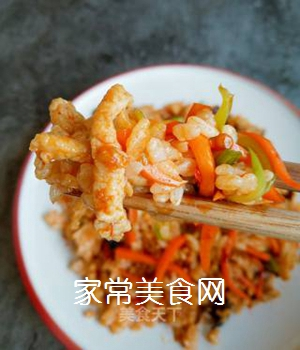 鱼香肉丝炒饭的做法步骤:9