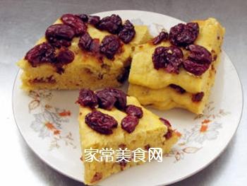 豆渣红枣发糕的做法步骤:8