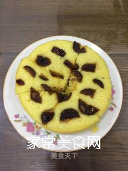 玉米面牛奶发糕的做法步骤:8