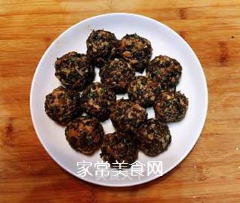 梅菜干肉丸的做法步骤:3