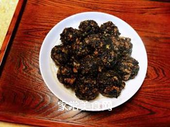 梅菜干肉丸的做法步骤:5