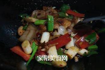 青椒回锅肉的做法步骤:14