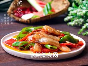 青椒回锅肉的做法步骤:15