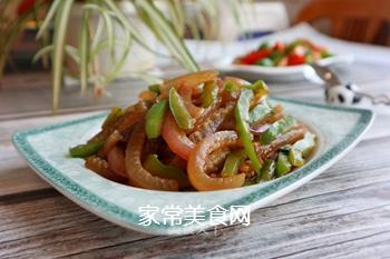 青椒炒肉皮的做法