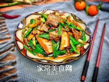 川菜之首~豆腐干回锅肉的做法
