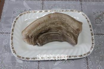 甜豆炒回锅肉的做法步骤:2