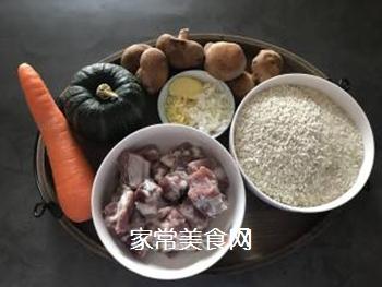 立秋贴秋膘~南瓜排骨焖饭的做法步骤:1