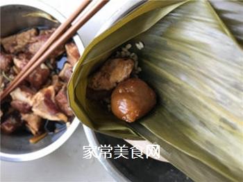 排骨蛋黄粽的做法步骤:5