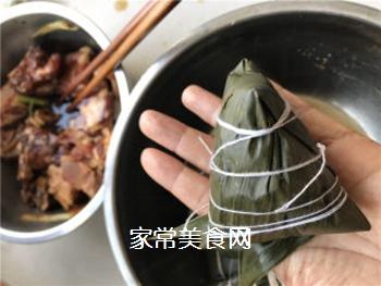 排骨蛋黄粽的做法步骤:7