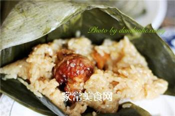 排骨蛋黄粽的做法步骤:13