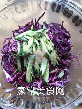 凉拌紫甘蓝的做法步骤:4