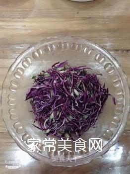 凉拌紫甘蓝的做法步骤:6