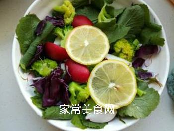 蔬菜柠檬沙拉的做法步骤:6