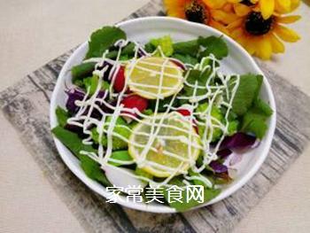 蔬菜柠檬沙拉的做法步骤:7