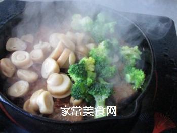 草菇牛排的做法步骤:14
