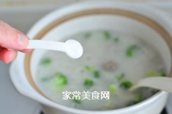 西兰花肉丸粥的做法步骤:10