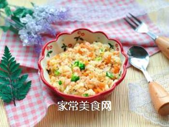 【宝宝辅食】三文鱼耳光炒饭的做法步骤:12